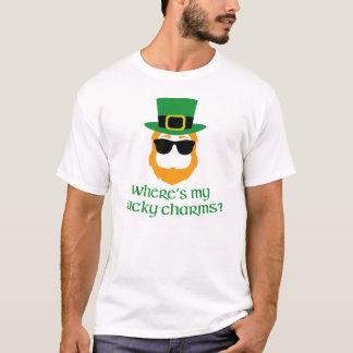 Where's My Lucky Charms? St Patrick Day Leprechaun T-Shirt