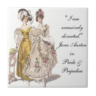 Where's My Mr. Darcy? Small Square Tile