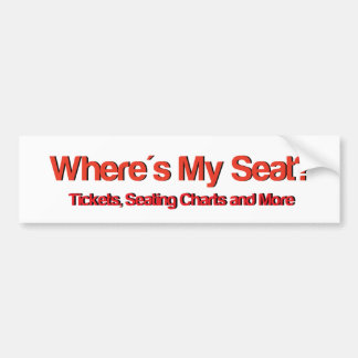 Wheres My Seat Logo.jpg Bumper Sticker