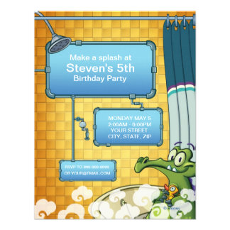 Where's My Water Birthday Invitation Personalized Invite