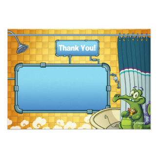 Where's My Water Thank You Cards Card