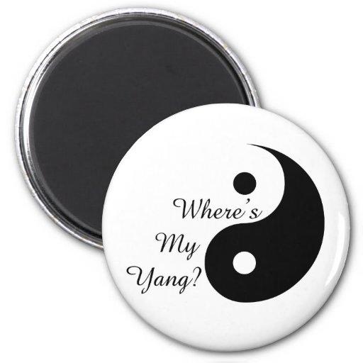 Where's my yang? magnet