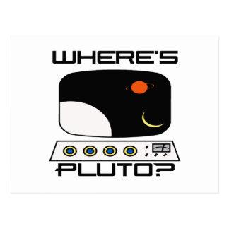 Where's Pluto Postcard
