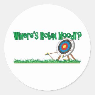 Where's Robin Hood Classic Round Sticker