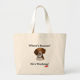 Where's Roscoe? Large Tote Bag