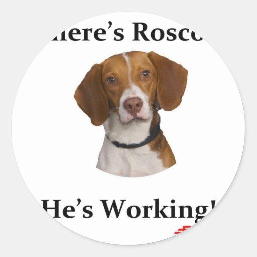 Where's Roscoe? Sticker