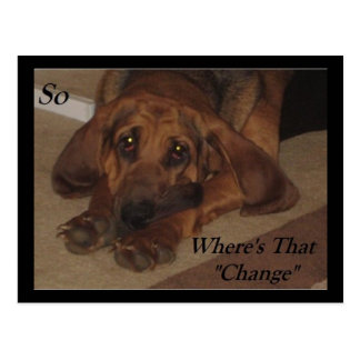 Where's the Change Postcard