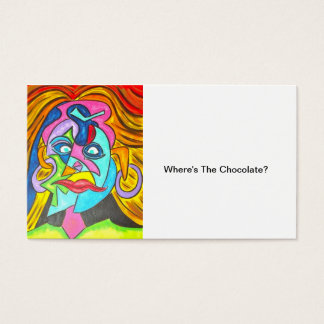 WHERE'S THE CHOCOLATE?-Abstract Art Business Cards