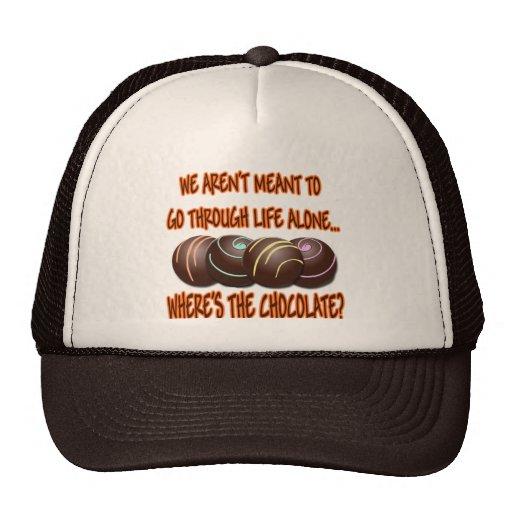 WHERE'S THE CHOCOLATE TRUCKER HATS