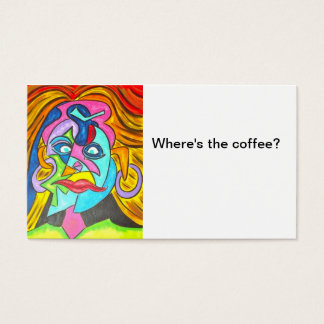 Where's The Coffee?-Abstract Art Business Cards