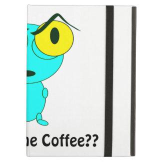 Where's the Coffee, Alien Cartoon iPad Air Cover