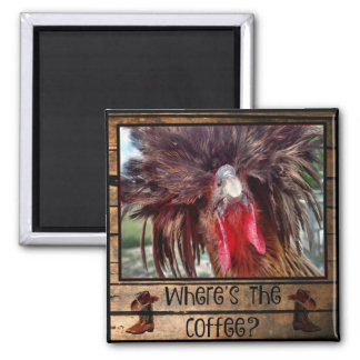 Where's The Coffee with Polish Chicken Magnet