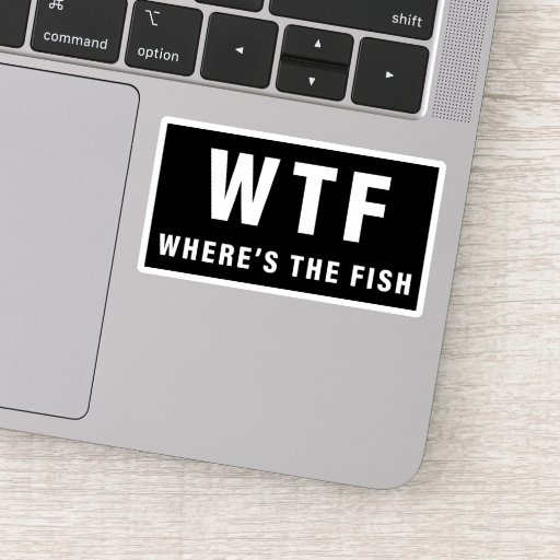 Where's the Fish Funny Fishing Sticker