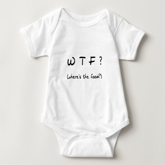 Where's The Food? Baby Bodysuit