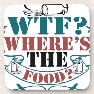Where's The Food? Coaster