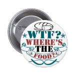 Where's The Food? Pinback Button