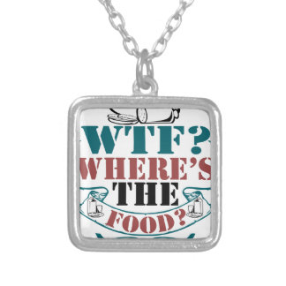 Where's The Food? Silver Plated Necklace