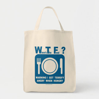 Where's the food? tote bag