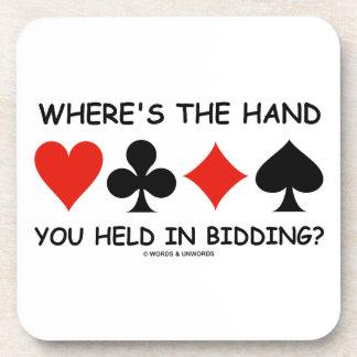 Where's The Hand You Held In Bidding? Bridge Coaster