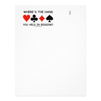 Where's The Hand You Held In Bidding? Letterhead
