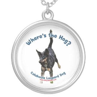 Where's the Hog Dog Round Pendant Necklace