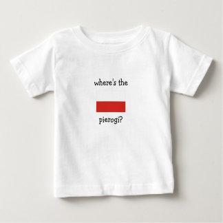 where's the pierogi? t-shirt