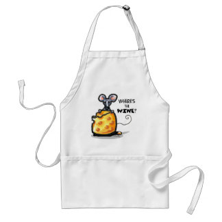 Wheres The Wine Adult Apron
