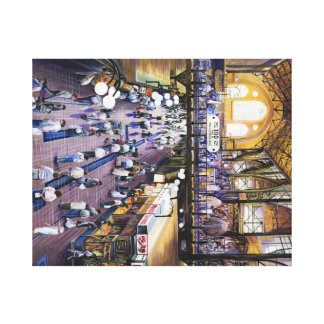 Where's the Women's Water Closet?, Budapest Canvas Print