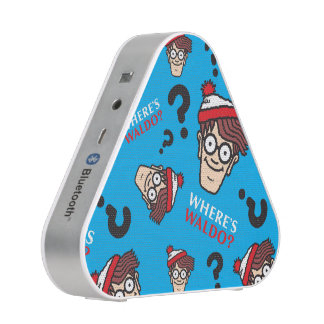 Where's Waldo Blue Pattern Bluetooth Speaker