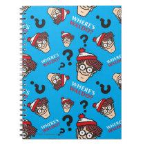 Where's Waldo Blue Pattern Notebook