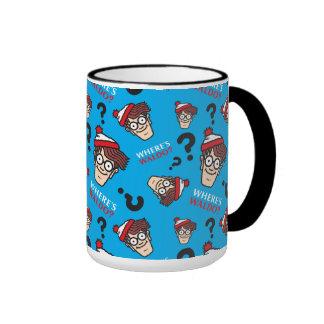Where's Waldo Blue Pattern Ringer Mug