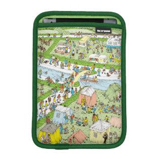 Where's Waldo Campsite iPad Mini Sleeves