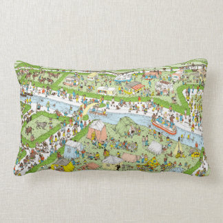 Where's Waldo Campsite Lumbar Pillow