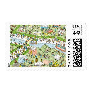 Where's Waldo Campsite Postage Stamp