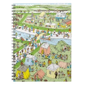 Where's Waldo Campsite Spiral Notebook