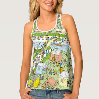 Where's Waldo Campsite Tank Top