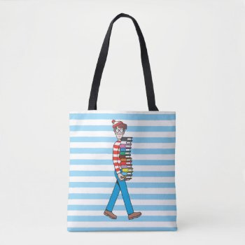 Where's Waldo Carrying Stack Of Books 2 Tote Bag by WheresWaldo at Zazzle