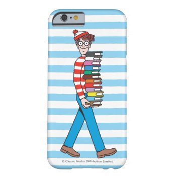 Where's Waldo Carrying Stack Of Books Barely There Iphone 6 Case by WheresWaldo at Zazzle