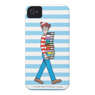 Where's Waldo Carrying Stack of Books iPhone 4 Case-Mate Case