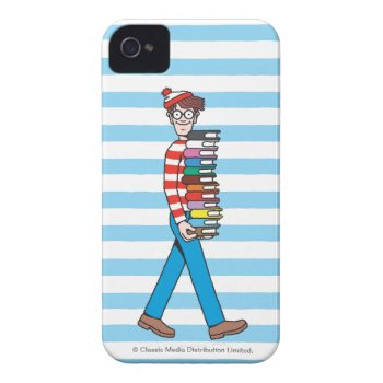 Where's Waldo Carrying Stack Of Books Case-mate Iphone 4 Case by WheresWaldo at Zazzle