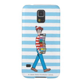 Where's Waldo Carrying Stack Of Books Galaxy S5 Cover by WheresWaldo at Zazzle