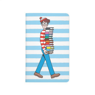 Where's Waldo Carrying Stack of Books Journal