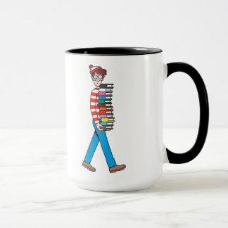 Where's Waldo Carrying Stack of Books Mug