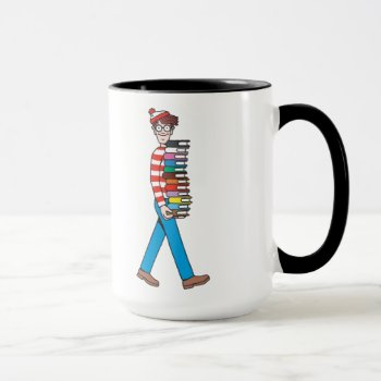 Where's Waldo Carrying Stack Of Books Mug by WheresWaldo at Zazzle