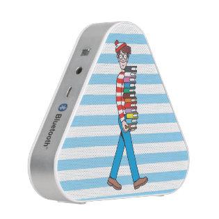 Where's Waldo Carrying Stack of Books Speaker