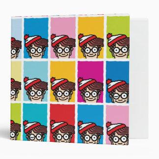 Where's Waldo Colorful Pattern Binder