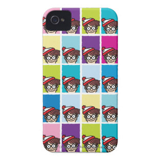 Where's Waldo Colorful Pattern Case-Mate iPhone 4 Case