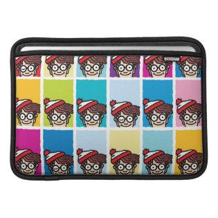 Where's Waldo Colorful Pattern MacBook Sleeve