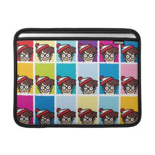 Where's Waldo Colorful Pattern MacBook Sleeves