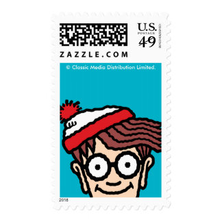 Where's Waldo Colorful Pattern Postage